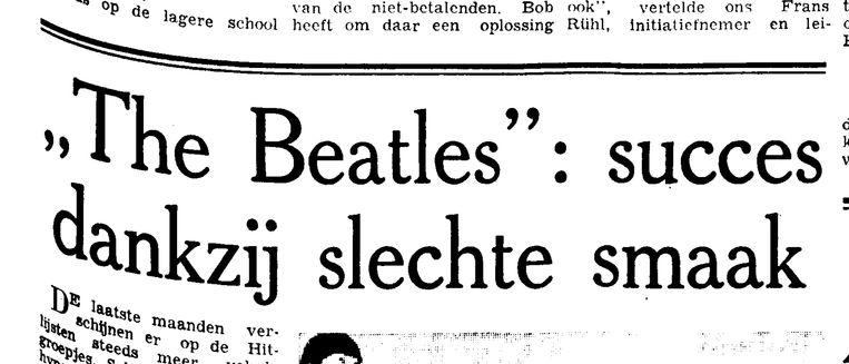 Citaten uit Trouw van 6  november 1963. Beeld