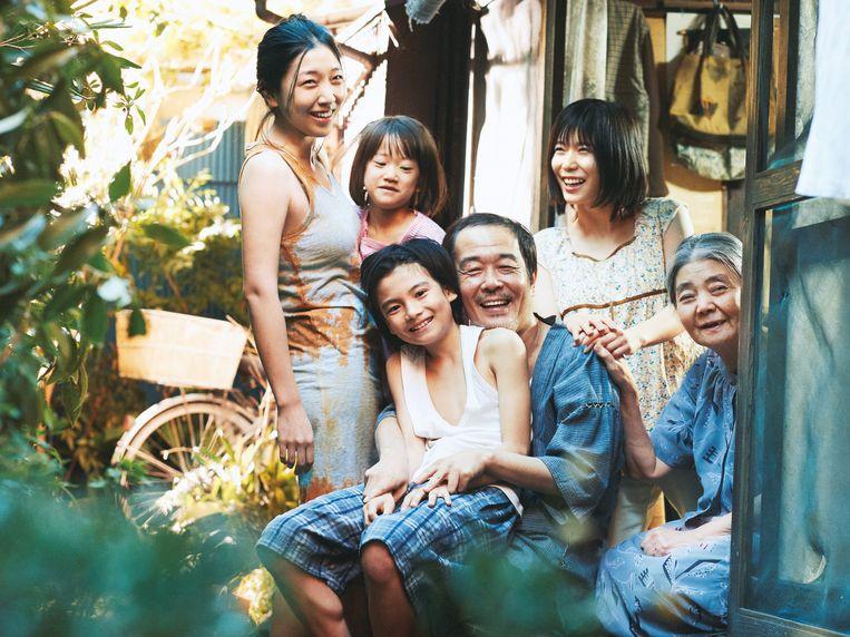 Het gezin Shibata in 'Shoplifters' Beeld RV