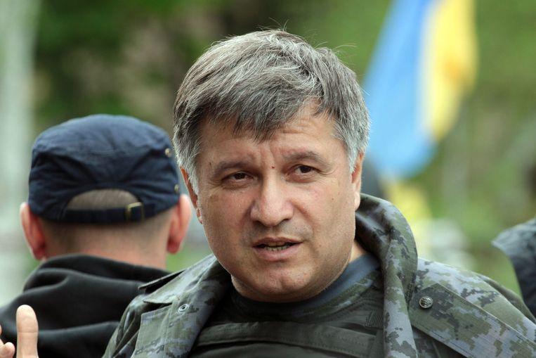 Oekraïense binnenlandminister Arsen Avakov. Beeld AFP