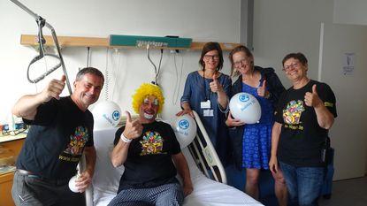Jarige kankerpatiënt als clown in UZ