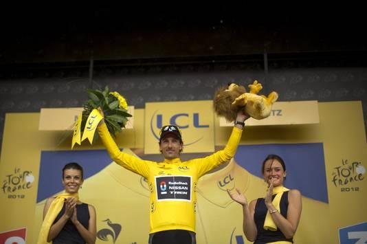 Fabian Cancellara start ook morgen in het geel.
