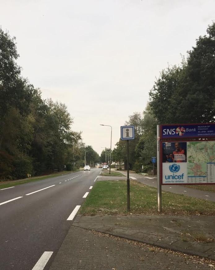 De Daarleseweg nabij de afslag met de Dennenweg in Den Ham.
