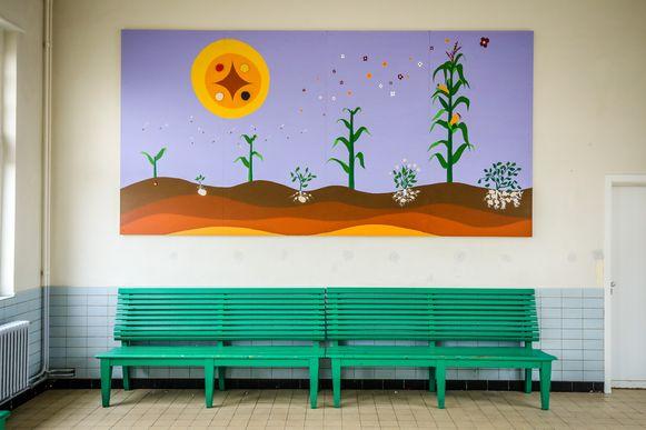 muurtekening station Kortemark