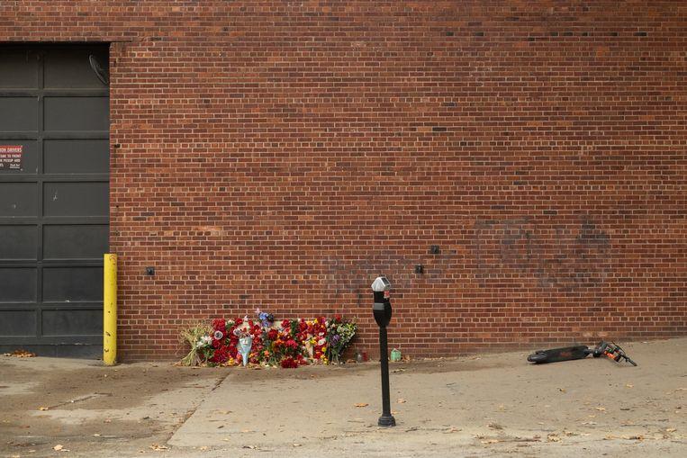 Op straat in Omaha, Nebraska, waar in mei een Black Lives Matter-demonstrant werd doodgeschoten. Beeld Eline van Nes