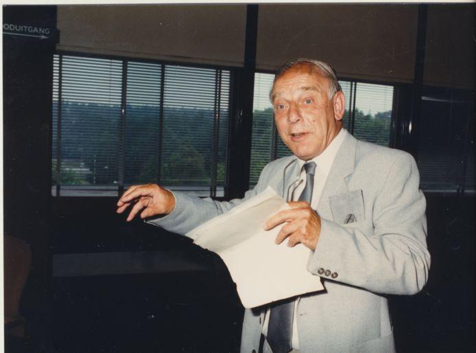Henk Wijngaard, speechend bij TNO.