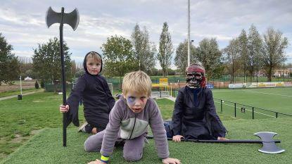 Sidderen en beven tijdens halloweentocht van Schelle Sport