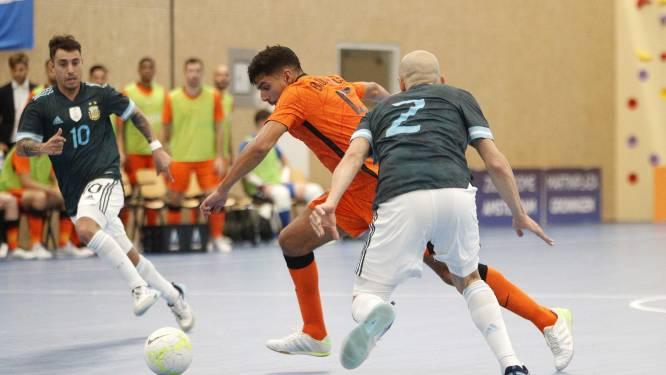 FC Eindhoven aanwinst Saïd Bouzambou twee keer trefzeker tegen wereldkampioen Argentinië