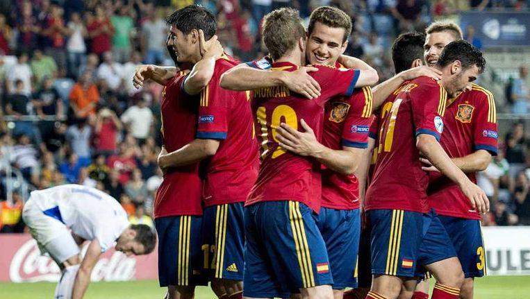Spanje won eerder in het toernooi met 3-0 van Jong Oranje. Beeld anp
