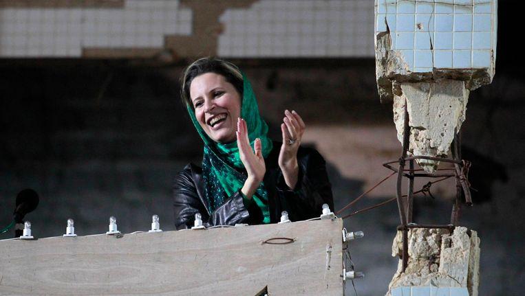 Aisha Kaddafi, de dochter van Muammar Kaddafi. Beeld REUTERS