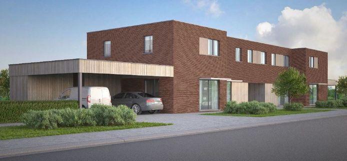 De nieuwe woningen aan de Kapelleweg, Kwarteldreef, Schaaphofweg en Torteldreef.