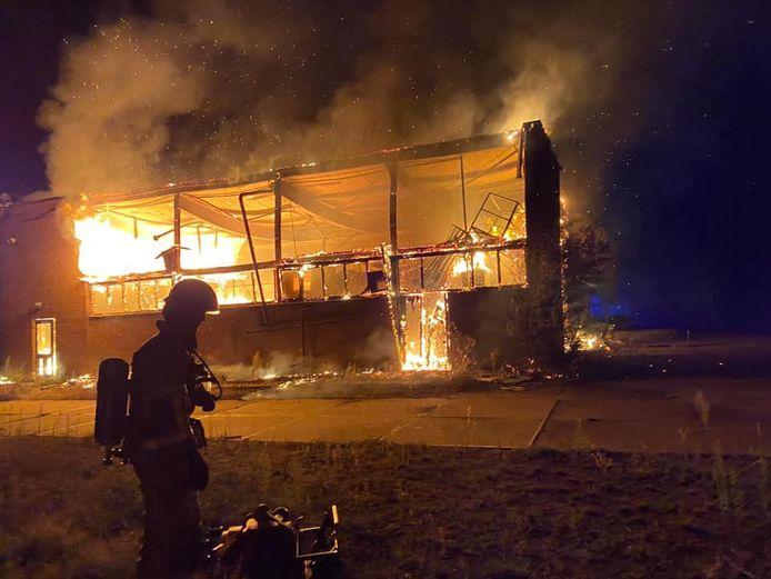 Uitslaande brand bij de ijzergieterij