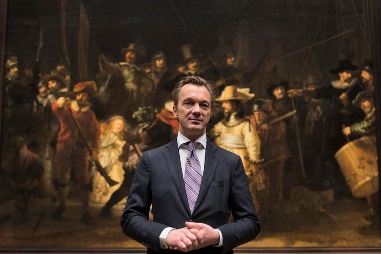 Directeur Wim Pijbes van het Rijksmuseum voor De Nachtwacht. Beeld reuters