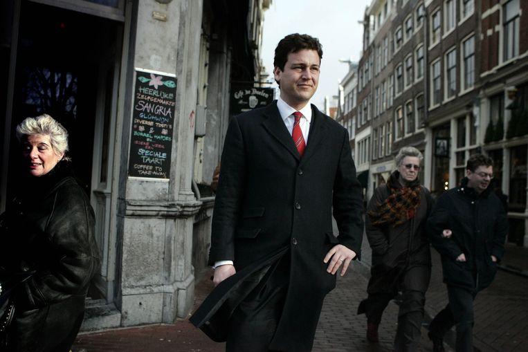 Lodewijk Asscher, als 31-jarige lijsttrekker van de PvdA in Amsterdam. Beeld ANP