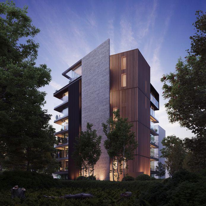 Queen's Tower: het nieuwe, moderne flatgebouw dat straks langs de Koningin Astridlaan moet verrijzen.