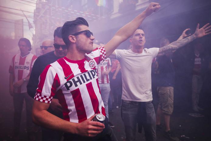 Fans van PSV in Eindhoven