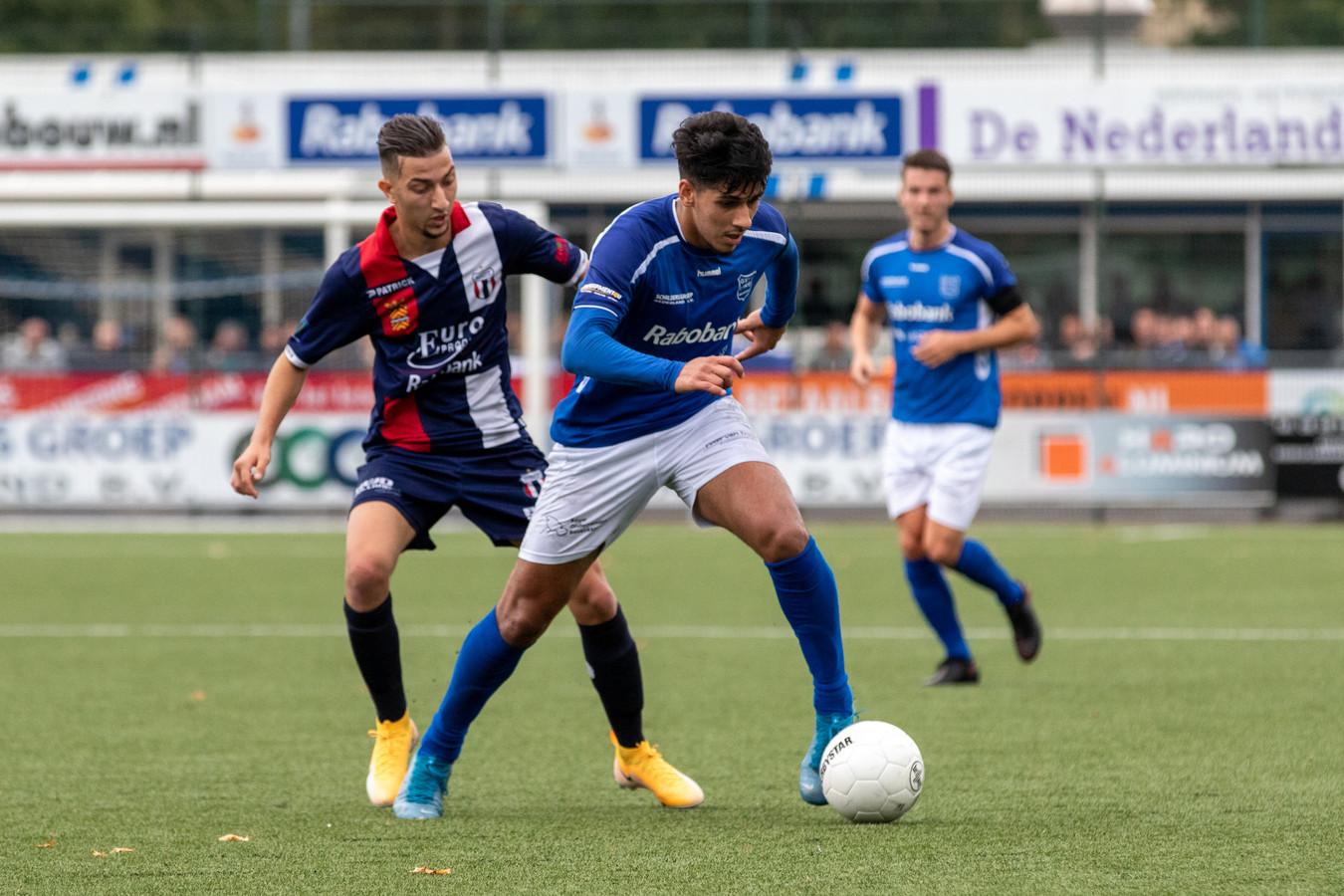 Hicham Haouat voetbalt ook volgend seizoen in het shirt van GVVV.
