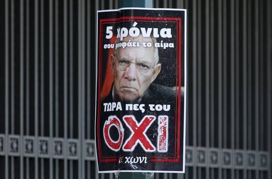De Duitse minister van Financiën, kop van Jut voor vele Grieken.