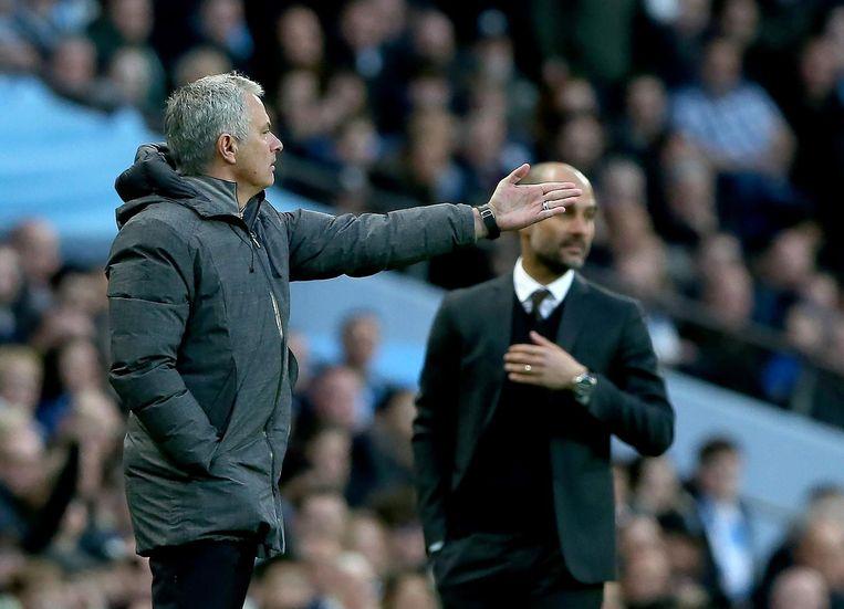 Mourinho en Guardiola. Beeld anp