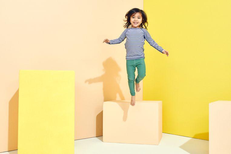 Kinderkledingmerk UV-play (0 tot 6 jaar), bedacht door huidarts en moeder Judith Serrarens. Beeld MEIS BELLE WAHR & JIP MERKIES