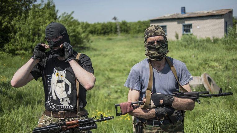 Pro-Russische seperatisten in Oekraïne.