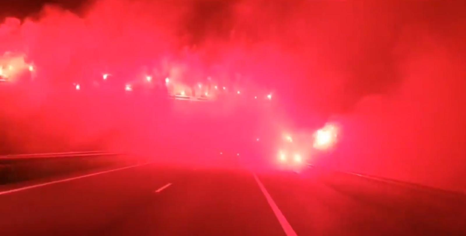 Een still uit de door De Graafschap gedeelde video.