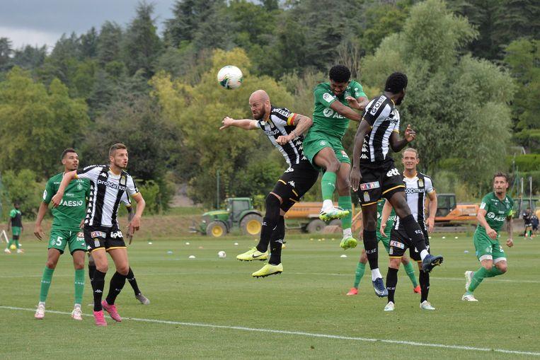 Charleroi oefende deze week ook al tegen Saint-Etienne.