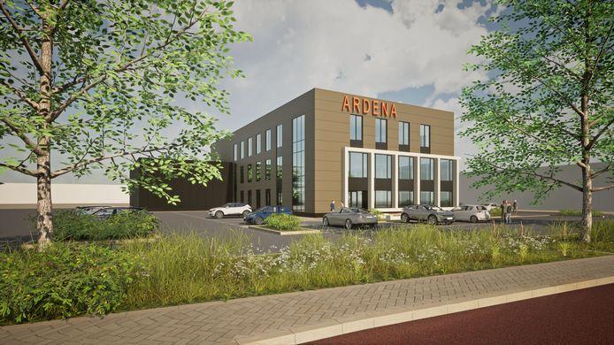 Het nieuwe pand van Ardena dat wordt gerealiseerd op het voormalige Philips-terrein aan de Kantsingel in Oss.