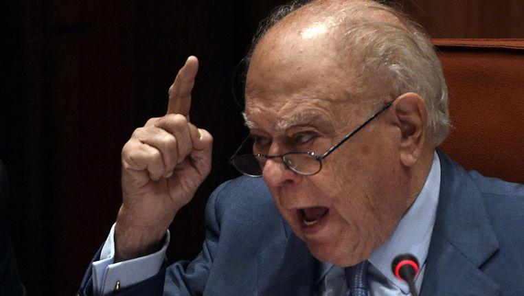 Jordi Pujol, één van de hoofdrolspelers in de Spaanse corruptie. Beeld AFP