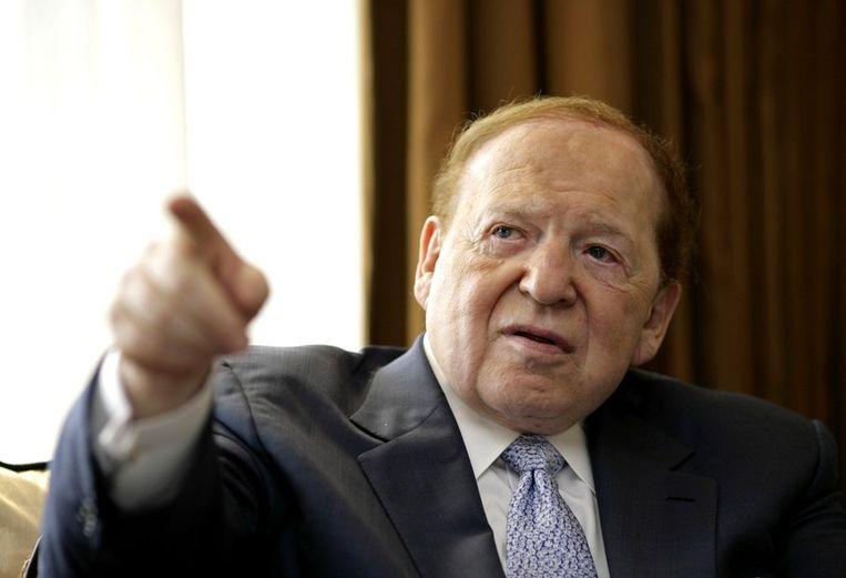 De Amerikaanse casinomagnaat Sheldon Adelson is de grote financier van het super PAC van Newt Gingrich. Beeld reuters