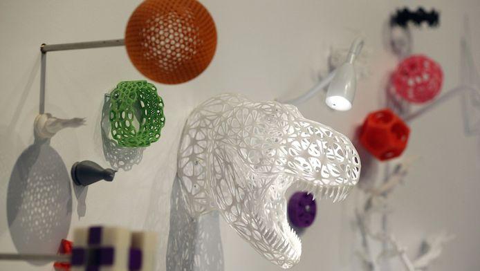 3D-geprinte objecten in het Science Museum in Londen.