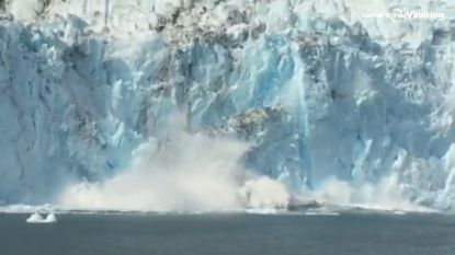 Gigantische gletsjer in Alaska stort in