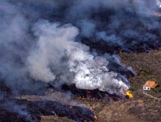 Nu al 350 huizen verwoest op La Palma en 166 hectare bedolven onder gesmolten gesteente, één van twee lavastromen is gestopt
