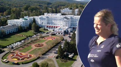 Er zijn slechtere plekken om voor het eerst weer te winnen: Clijsters tennist in luxeresort, compleet met casino en presidentiële atoombunker