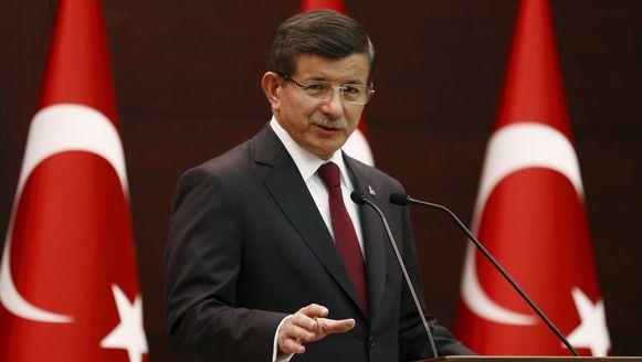 Turks premier Ahmet Davutoglu.
