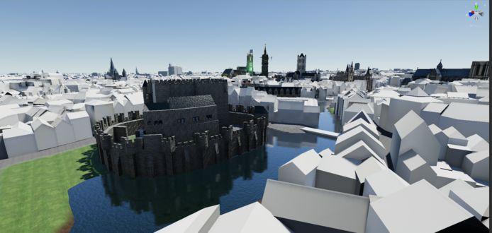 Het platform is tot in de details uitgewerkt: de vliegtuigen die over de virtuele stad vliegen, zijn dezelfde als in het echt.