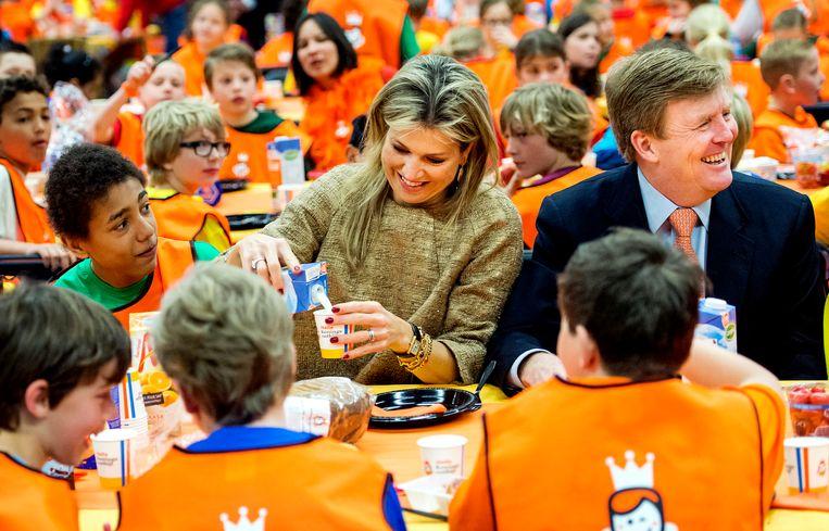 Willy en Max ontbeten vanochtend samen met 8000 Leidse kindertjes