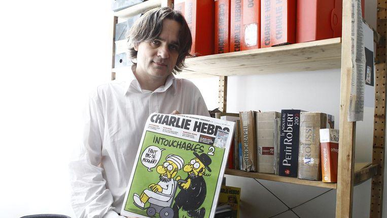 Riss wordt de nieuwe publicatiedirecteur van Charlie Hebdo. Beeld PHOTO_NEWS