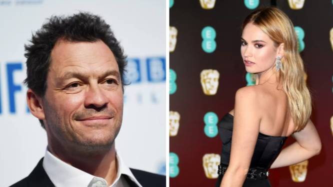 """Dominic West vreest voor wraak van Lily James na hun affaire"""