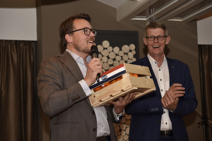 Prins Constantijn van Oranje en Stan Uyland van Rotary Soest-Baarn, initiatiefnemer van Startup Mentor Rotary.