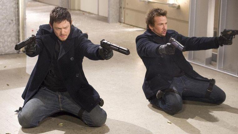 Norman Reedus (links) en Sean Patrick Flanery in The Boondock Saints (Troy Duffy, 1999). Beeld