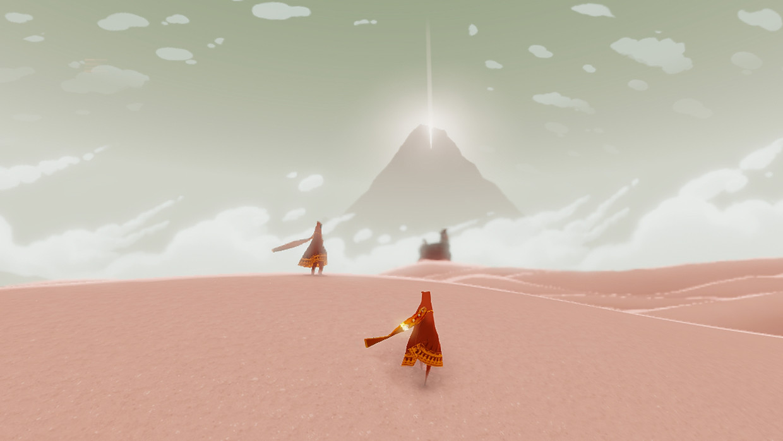 In 'Journey' kun je alleen reizen, of met andere spelers die online zijn.