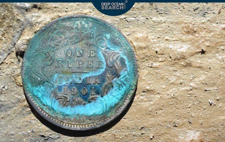 Een van de roepie's die werden teruggevonden. Beeld Deep Ocean Search