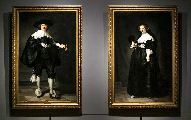 De schilderijen Marten & Oopjen van Rembrandt van Rijn. Beeld ANP