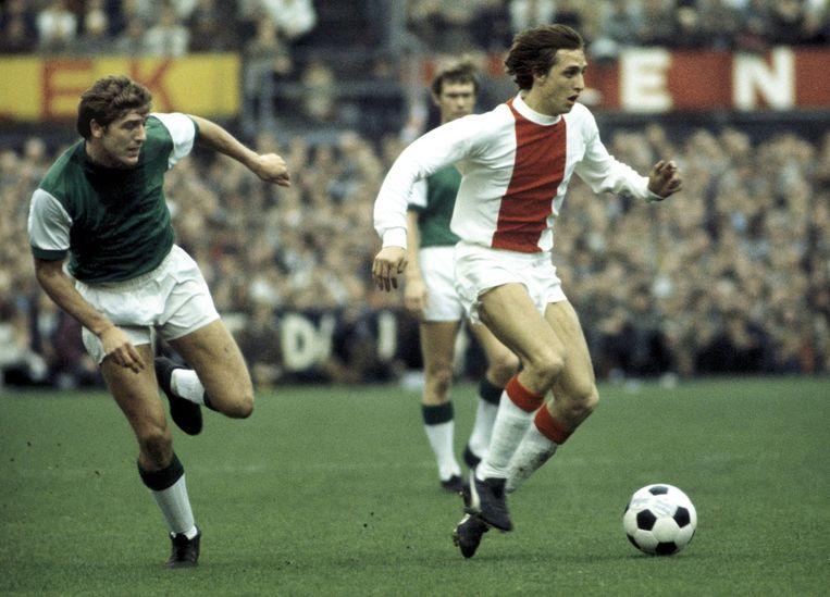 Cruijff tijdens Feyenoord-Ajax, 1969. Beeld anp