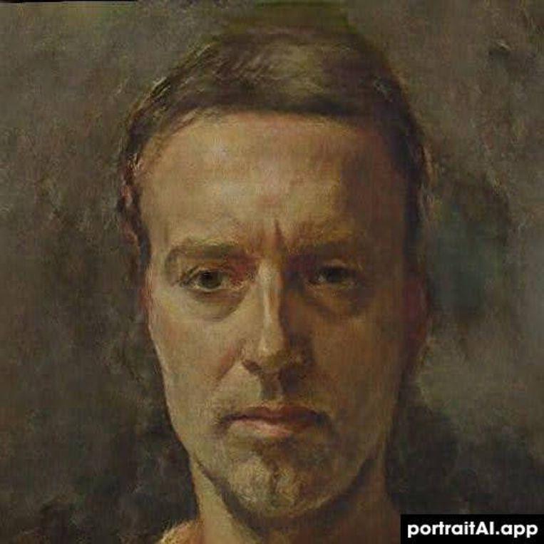 Een door AI gemaakt 'schilderij' op basis van een selfie Beeld PortraitAI