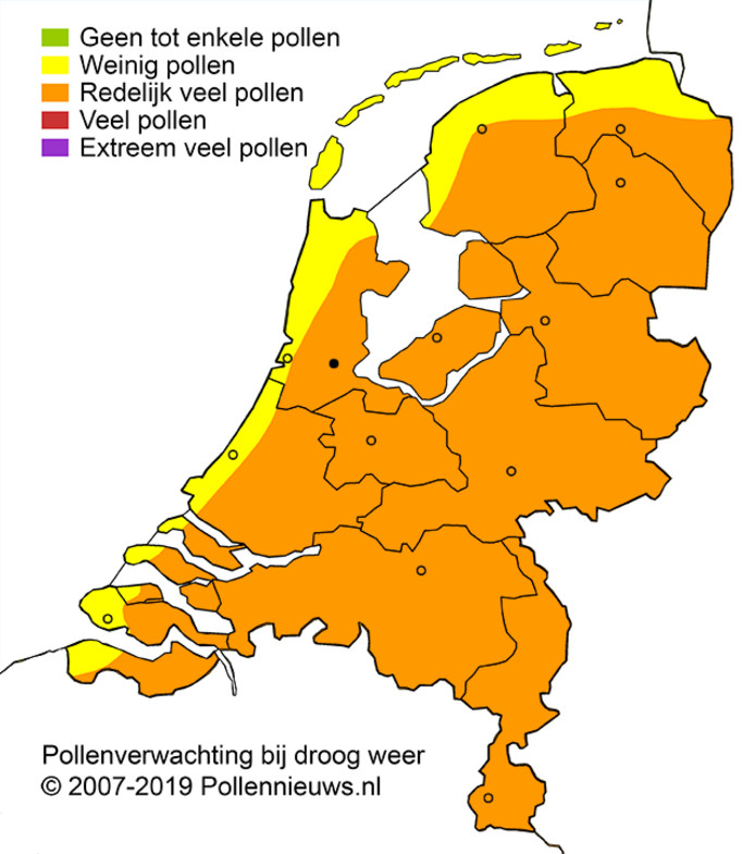 Hoe is het vandaag gesteld met de pollen?