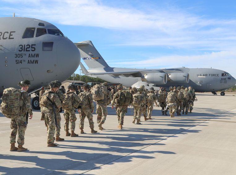 De VS sturen extra troepen naar het Midden-Oosten. Beeld AFP