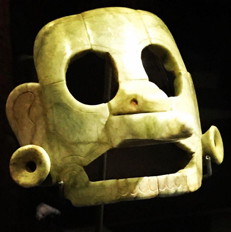 Het 1.000 jaar oude gestolen Maya-masker. Beeld Ministerio de Relaciones Exteriores de Guatemala