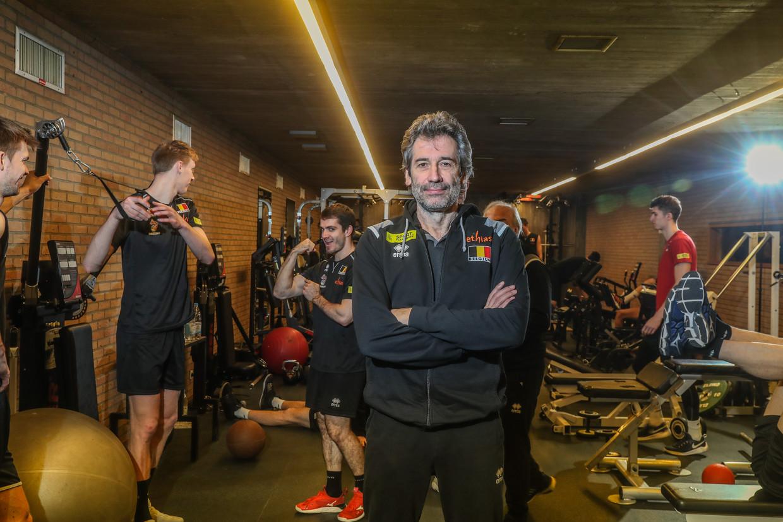 Dominique Baeyens moet de Belgische volleybalspelers naar Tokio 2020 leiden. Daarna stopt hij als bondscoach. Beeld