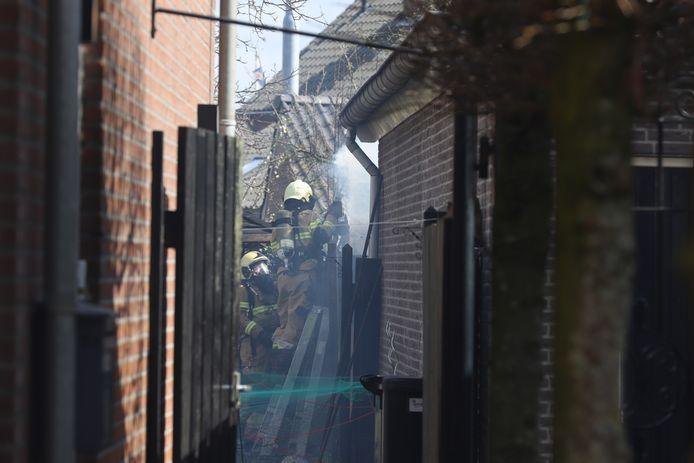 De brandweer had de brand snel onder controle in Liempde